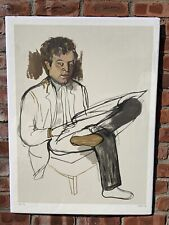 Alice Neel Signed Lithograph Portrait Of Abstract Artist Edward Avedisian. 1981