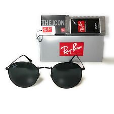 Ray-Ban Round Metal Black Sunglasses RB3447 002/62 50mm Brand New