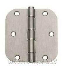 3 1/2 Satin Nickel Door Hinge Hardware 5/8 Radius 3.5""