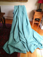 Next Huge Pair Of Heavy Woven Curtains Duck Egg Blue 90 x 90 Inches Fully Lined