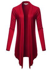 FashionOutfit Women's Drapey Open Front Long Sleeve Cardigan