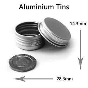 5ml / 5g Small Round Metal Aluminium Storage Tin Jar Stash Pot Balm Cosmetic JDA