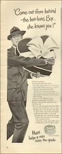 1946 Vintage ad for Mum deodorant `Art Heart Suit Hat      021019
