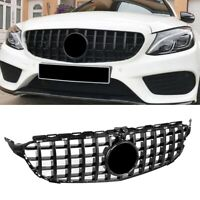 Front Bumper Grille Grill For Mercedes C Class W205 2015-2018 + Camera Hole