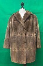 Impresionante para mujer Abrigo de piel de visón real Inmaculada UK 16 Vintage por soberano
