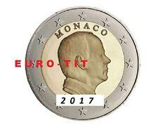 2 €     MONACO   PRINCE ALBERT  2017    PIECE   NEUVE      NOUVEAU  2017   2017