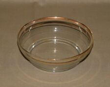 Vintage Glass Bowl is Clear Glass with a simple elegant Gold Trim Accent
