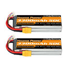 2pcs 14.8V 3300mAh 4S LiPo Battery 50C XT90 For RC Helicopter Airplane Car Drone