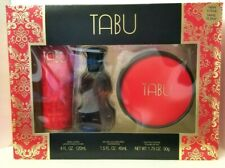 TABU 3 pcs Gift Set eau de cologne 1.5oz/Lotion 4oz/Dusting Powder 1.75 by DANA