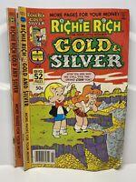 Richie Rich Gold & Silver No. 21 & 22 Comic Lot
