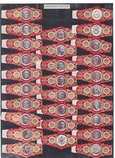 Série complète  Bague de Cigare Vitola Espagne BN115367 Présidents américains