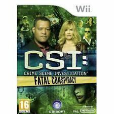 Nintendo Wii juego CSI-conspiración mortal