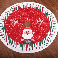 80cm Christmas Tree Skirt Base Floor Mat Cover XMAS Tree Ornament Santa Deer