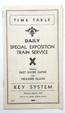 Daily Special Expo Train Service Time Table- Key System East Shore- Treasure L11