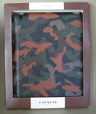 NIB $128 COACH Heritage Signature Molded IPAD CASE Fatigue Orange Camo F64219