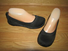 Crocs Black Elastic Fabric Walking Slip Ons - 6 European 36.5  EUC