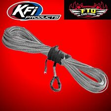 "KFI SYN19-S50 3/16"" Synthetic 50' ATV Winch Cable (Smoke) for 3500lb Winches"