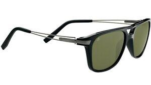 Serengeti Empoli Polarized Photochromic Sunglasses Shiny Black 555NM 7762