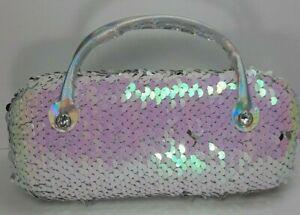 Handbag Style Adults Kids Hard Eyeglasses Case   Protector Box Silver Pink (A9)