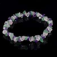 Crystal Chip Gemstone Bead Bracelet New Age Healing Chakra Reiki Jewellery Gift