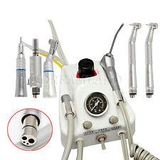 Dental Portable Turbine Work w/ Compressor +High/Low Speed Handpiece Kit 4H AD5Y