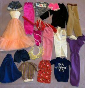 Vintage Barbie clothes lot 1980's