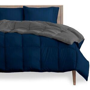 Goose Down Alternative Reversible Comforter - Ultra Soft - All Season Breathable