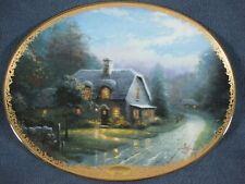 Lamplight Glen Collector Plate Lamplight Village Thomas Kinkade with Coa Cottage