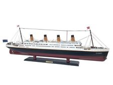 """Wooden RMS Titanic 40"""" Titanic Model Ship - Wood Assembled Cruise 1:265 Scale"""