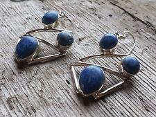 Lapis Lazuli Genuine Sterling Silver 925 Earrings Hook Fastening blue