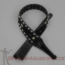 Leather Guitar / Bass Strap - With Stars - Adjustable Sizing
