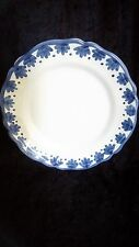 Large Round Italian Pottery Blue and White Serving Platter 13""