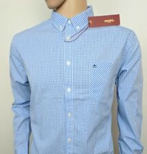 """Merc London Mens Shirt Oxford Blue Gingham Check L - XL Chest 46"""" New With Tags"""