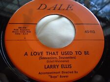 Rare Teen Oldies 45 : Larry Ellis ~ A Love That Used To Be ~ Dale 112