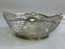 Beautiful Dutch 835 Silver Open Work pierced Bowl 7.86 t-oz