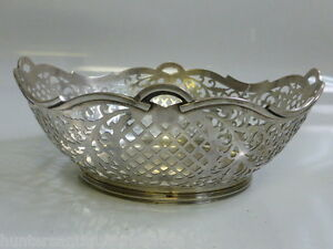 Beautiful Dutch 835 Silver Open Work pierced Bowl 7.86 T-oz