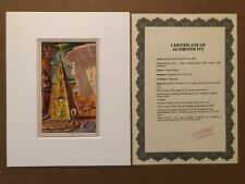 SALVADOR DALI PYRAMID EYE MASONIC LITHO ORIGINAL 1948 CELLINI WITH CERTIFICATE