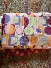 WOW! Twin Comforter Reversible Kids Girls. Pink Dots Pattern