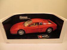 BBURAGO 1984 FERRARI TESTAROSSA RED DIECAST 1/18 CAR WITH BOX MODEL #3019 RARE