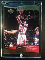 MICHAEL JORDAN 1997 UPPER DECK #1 MEMORABLE MOMENTS DIE CUT GOLD FOIL INSERT NBA