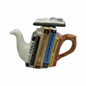 Jane Austen Books Teapot One Cup Carters of Suffolk Birthday Christmas Gifts