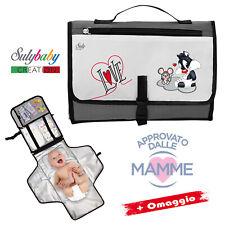 Fasciatoio portatile pieghevole - Borsa Kit per cambio neonato - Idea Nascita -