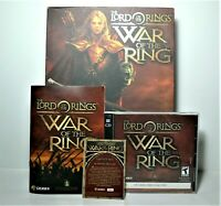 Lord of the Rings War of the Ring PC 2003 Open Box, Includes Disk Manuel & Card