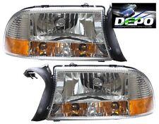 97-04 Durango Dakota CHROM Head Lights 1PC style Corner