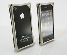 Wicked iPhone 4 iPhone 4S Metal Jacket WMJ Alloy Frame Case Black Chrome