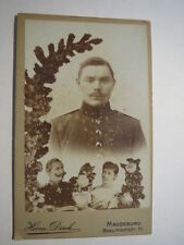 Magdeburg - Soldat Paul Rust in Uniform - Collage / CDV