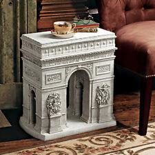 "20"" Chalgrin's 1806 Arc de Triomphe Replica Stone Finish Sculptural SideTable"