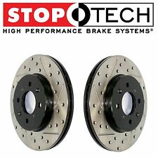 For BMW E60 E64 535i 545i Rear StopTech Drilled & Slotted Brake Rotors Set Pair