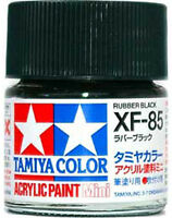 TAMIYA COLOR ACRYLIC XF-85 Rubber Black MODEL KIT PAINT 10ml NEW