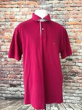 TOMMY HILFIGER MEN'S VIOLET RED POLO SHIRT SIZE LARGE